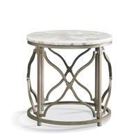 Onyx Round Lamp Table