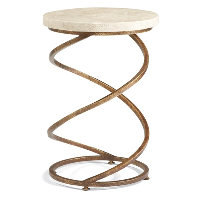 Gold Leaf Spiral Accent Table