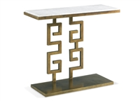 Aged Gold Greek Key Console