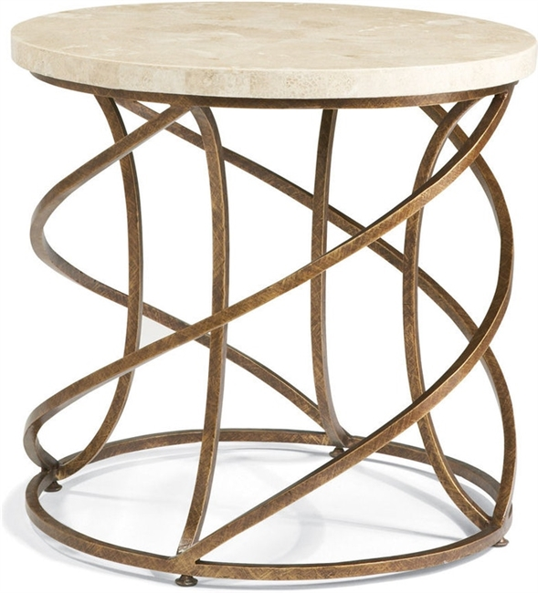 Marble Top Gold Swirl End Table