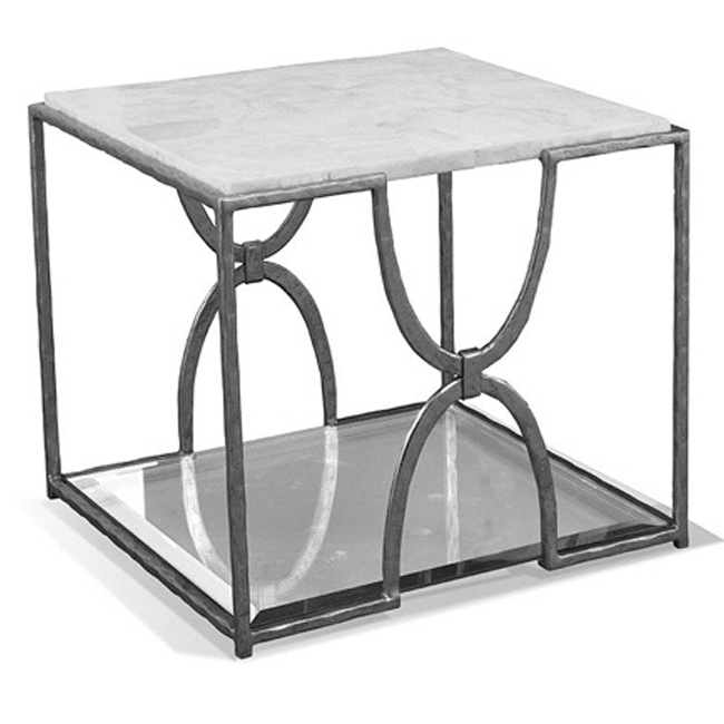 Nickel Leaf Square Bunching Table