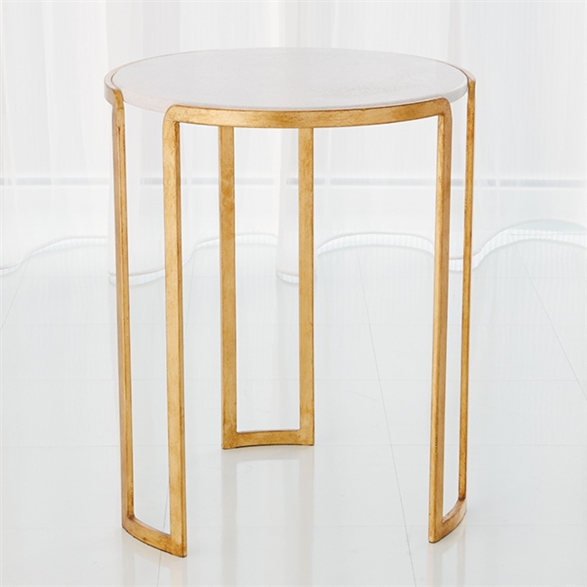 Channel Accent Gold Leaf Table