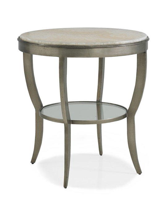 Central Round Lamp Table