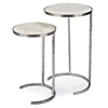 Bone Veneer Nesting Tables (Set of 2)