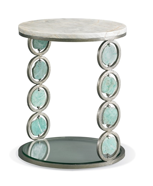 Jade Stone Accent Table