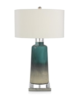 Cerulean Blue and Cream Table Lamp
