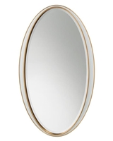 White Oval Framed Mirror