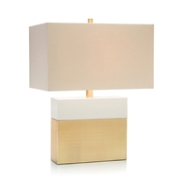 Cream & Gold Table Lamp