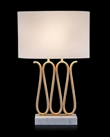Ribbon of Gold Table Lamp
