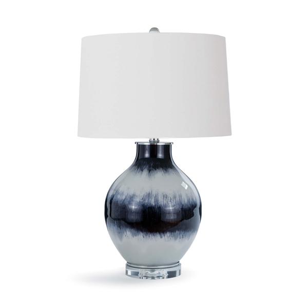 Indigo Glass Table Lamp