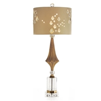 Crystal & Gold Decagon Buffet Lamp