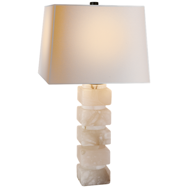 Alabaster Stacked Lamp