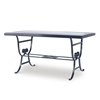 Augustine Metal Dining Table with Tempered Glass