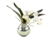 Green Mercury Vase Orchids