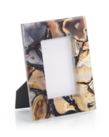 Rich Brown to Clear Agate Photo Frame