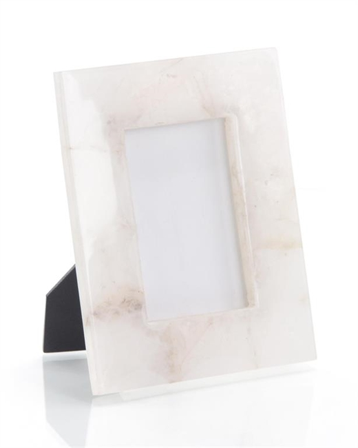 White Translucent Agate Photo Frame
