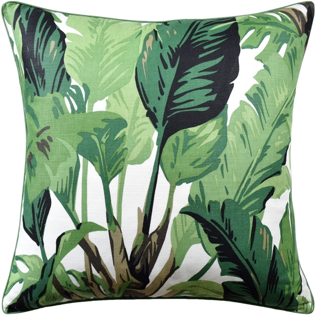 Travelers Palm Green Pillow