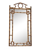 Antiqued Gold Bamboo Mirror