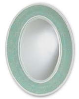 Aqua Crackle Mirror