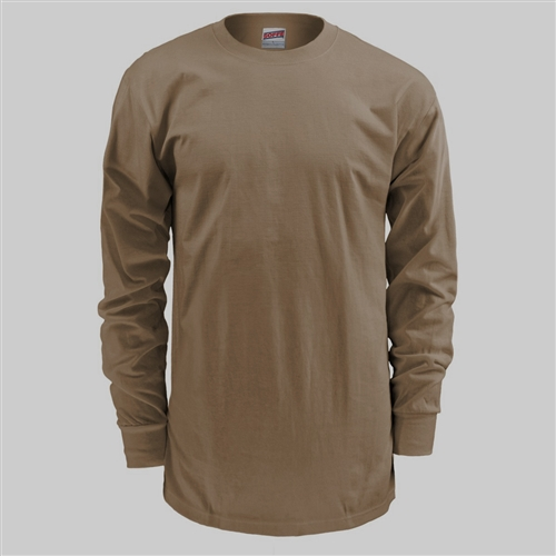 Soffe Long Sleeve T-Shirt- Tan 499 9ee18b53439