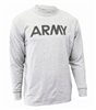 Soffe Dri-Release Army PT Light Grey, Long Sleeve