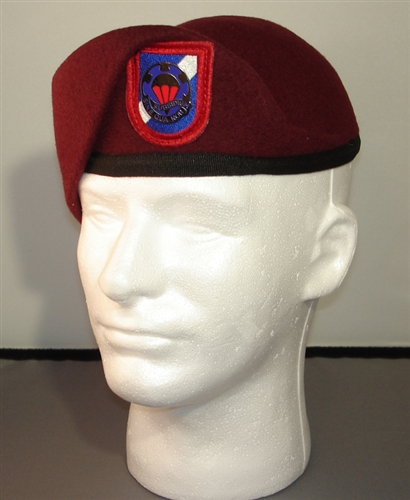 Pre shaped maroon beret you