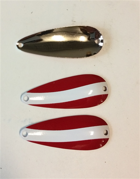 3 Pack of Red/White Nickel back  3/8 oz Spoons