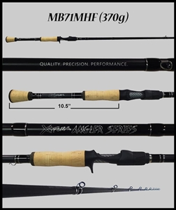 "MB71MHF - 7'1"" Medium Heavy Fast Casting Rod"