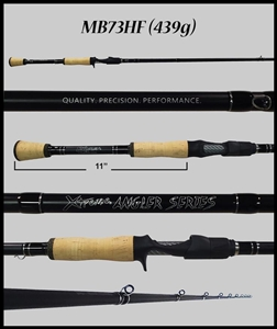 "MB73HF - 7'3"" Heavy Fast Casting Rod"