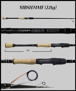 "MBSH74MF - 7'4"" Medium Fast Spinning Rod"