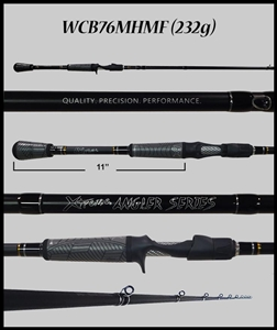 "WCB76MHMF - 7'6"" Medium Heavy Mod-Fast Cranking-Blended Graphite-Casting Rod"