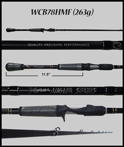 "WCB78HMF - 7'8"" Heavy Mod-Fast Cranking-Blended Graphite-Casting Rod"