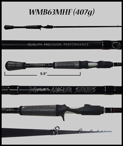 "WMB63MHF - 6'3"" Medium Heavy Fast Casting Rod"