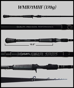 "WMB71MHF - 7'1"" Medium Heavy Fast Casting Rod"
