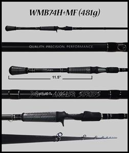 "WMB74H+MF - 7'4"" Heavy-Plus Mod-Fast Casting Rod"