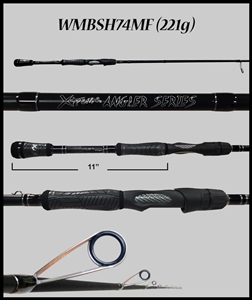 "WMBSH74MF - 7'4"" Medium Fast Spinning Rod"