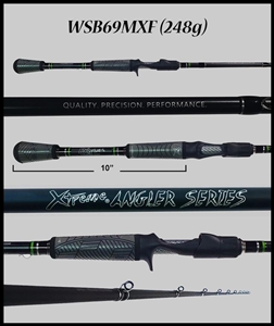 "WSB69MXF - 6'9"" Medium Xtra-Fast Casting Rod"