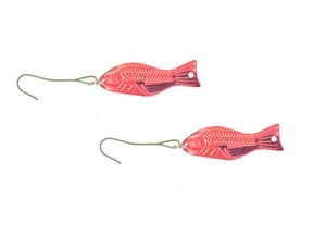 2 Pack of Big Red Goldfish Ornaments