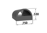 125 Series EPDM Rubber D Shaped Seal