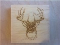 Corner trim blocks buck deer, made from pine
