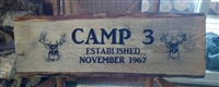Custom Rustic Slab Wood Personalized Sign/ Wall Art  Custom Camp /Cabin sign
