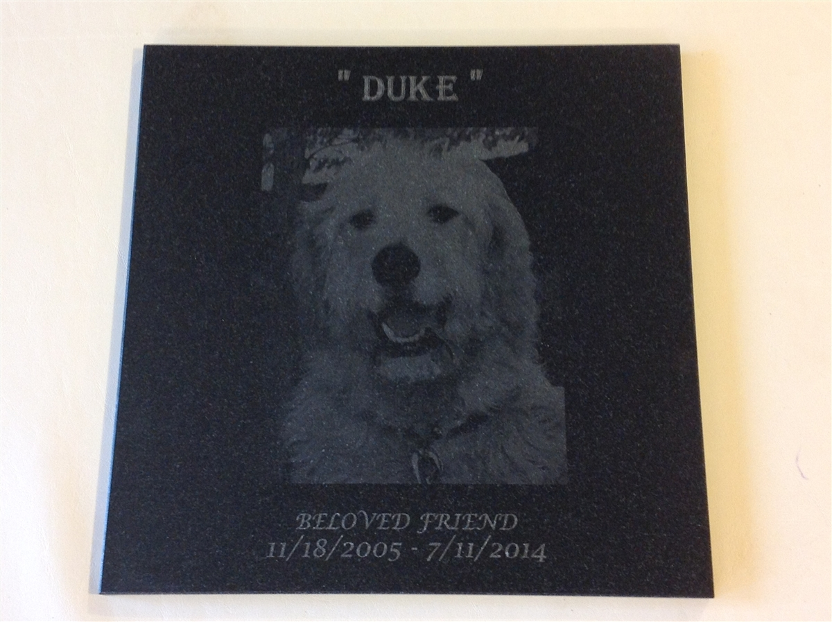 Personalized Engraved Granite 12 X 12 Tile Grave Markers Pet