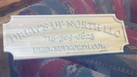 Personalized Carved Cedar Sign
