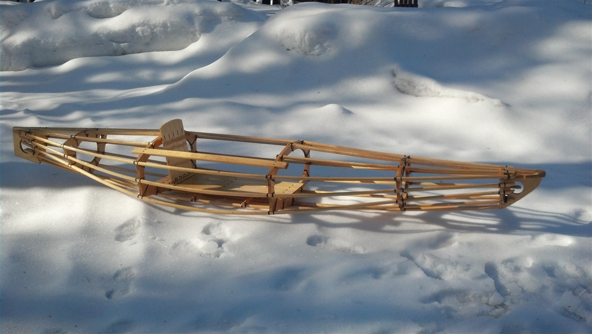 Skin On Frame Kayak 11 6 Quot Long Carved In Pine Danish