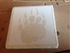 Bear Paw Travertine tile drink coaster