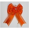 Flower Girls Hair Bows - Orange