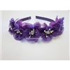 Floral Headband - Purple