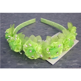 Floral Headband - Lime Green