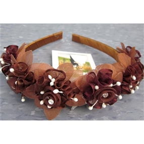 Floral Headband - Brown
