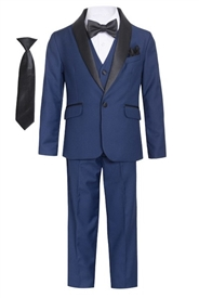George  Boys 5pc Tux: Navy (Slim fit)